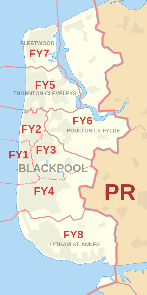 Blackpool Postcode Map