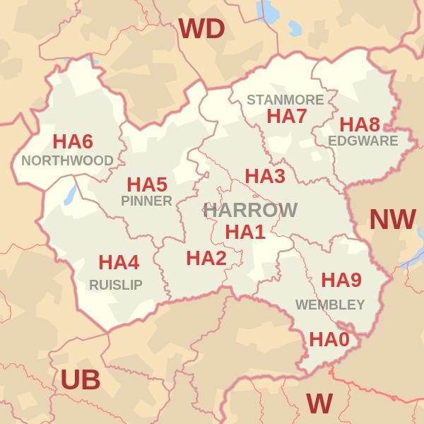 Ha Postcode Map Harrow postcode information   list of postal codes   PostcodeArea  Ha Postcode Map