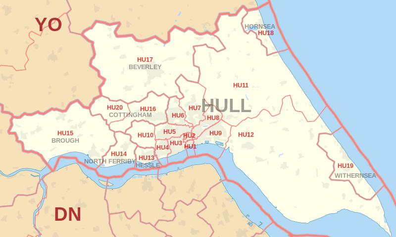 Map Of Uk Hull.Hull Postcode Information List Of Postal Codes Postcodearea Co Uk