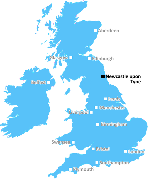 Map Of Uk Newcastle.Newcastle Upon Tyne Postcode Information List Of Postal Codes